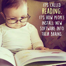 It's called reading...