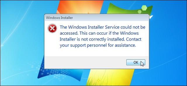 Khắc phục lỗi Windows Installer Service khó chịu trong Windows 7 1
