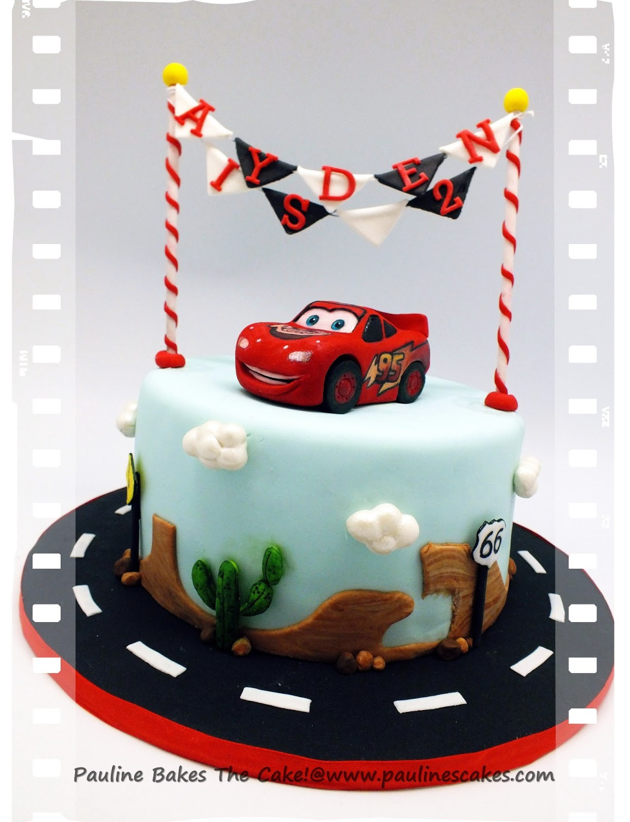 Mcqueen Car Cake Decoration : PAULINE BAKES THE CAKE!: