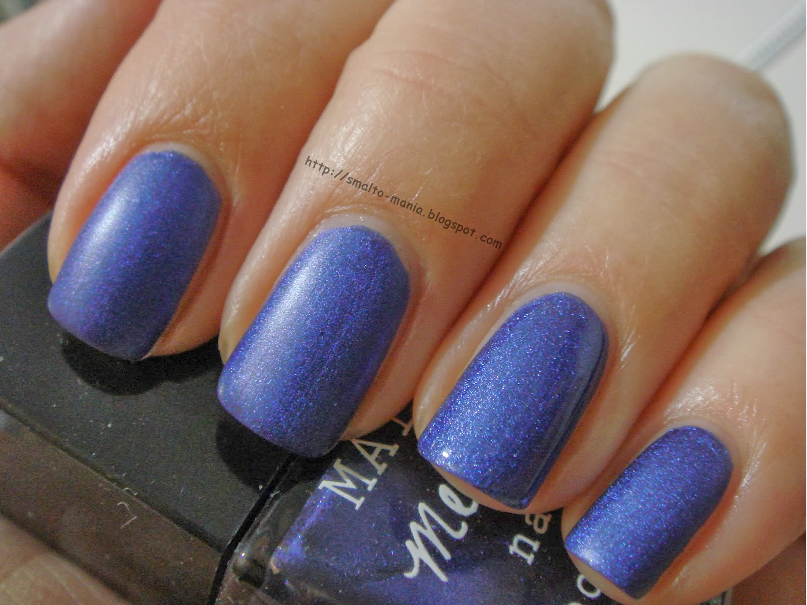 H&M Matte Metallic Blue Metal