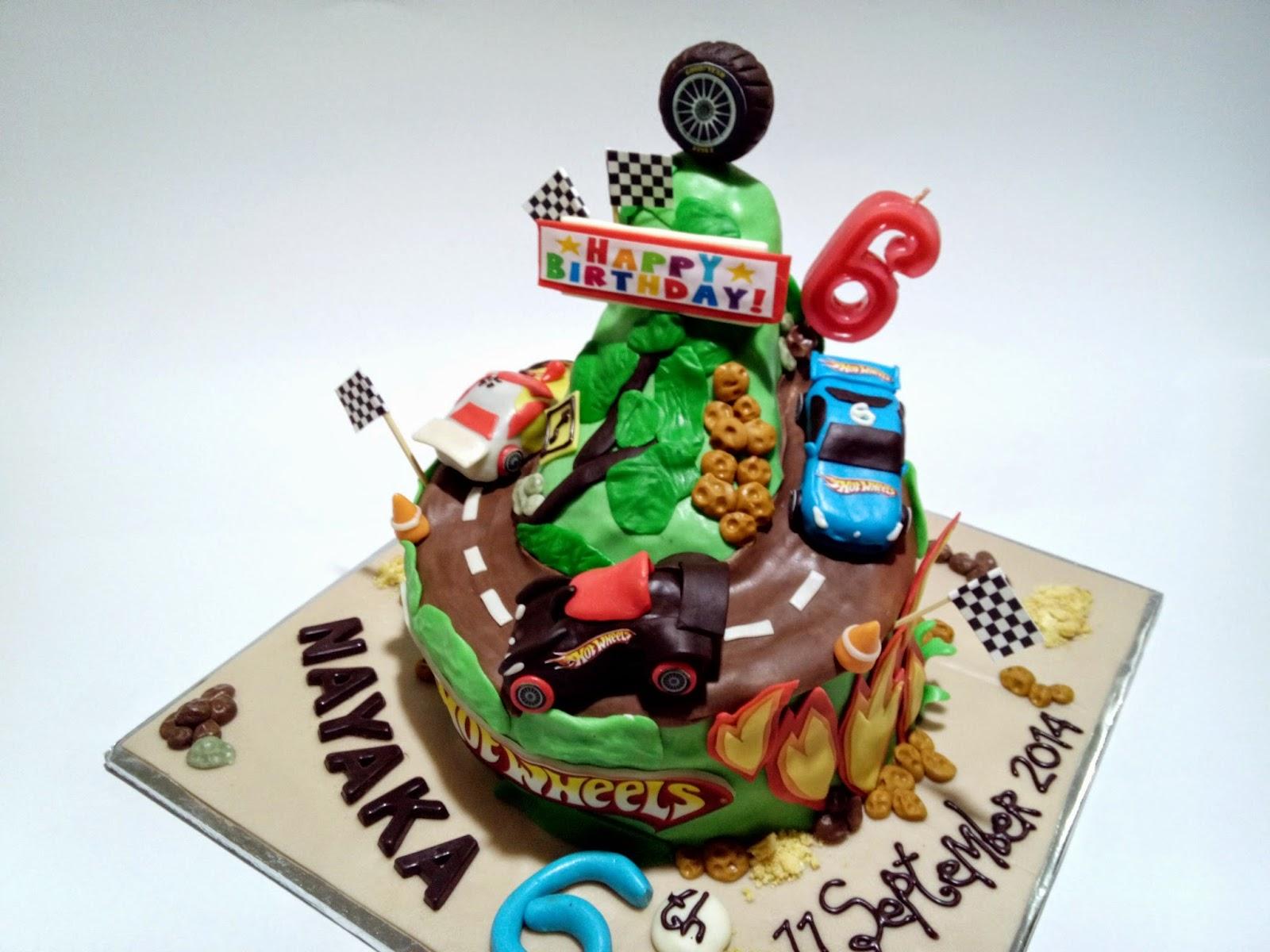 Cake Malang, Tart Malang, Coklat Malang, 3D Cake, HotWheels Cake