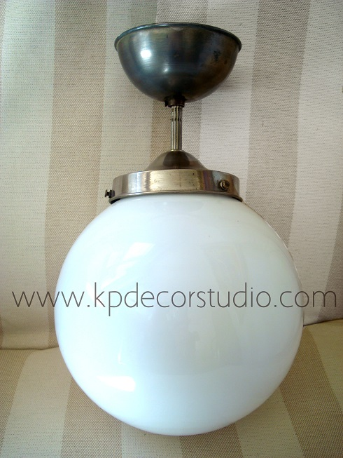 Kp decor studio l mpara bola vintage a os 50 vintage ceiling lamp - Tulipas para lamparas de techo ...