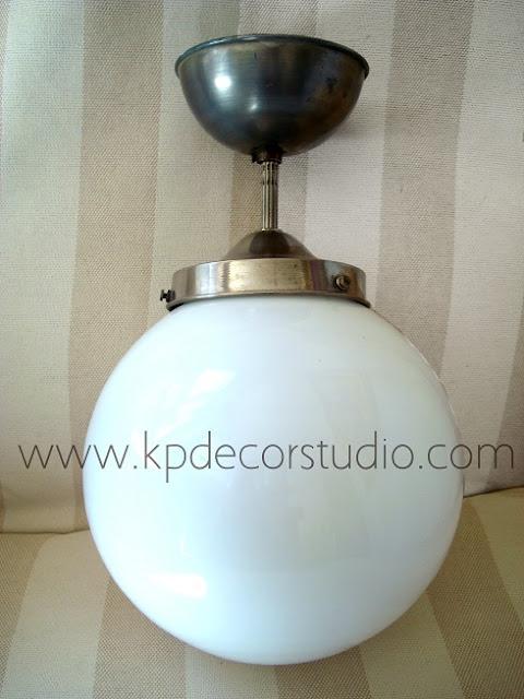 Comprar lámparas de techo colgantes años 70 estilo clásico con tulipa redonda en forma de bola