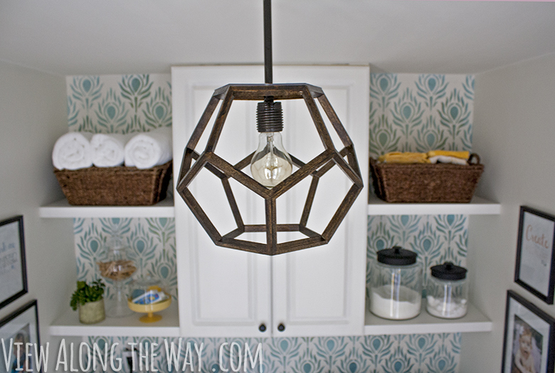 Diy geometric hanging pendant light for Dodecahedron light fixture