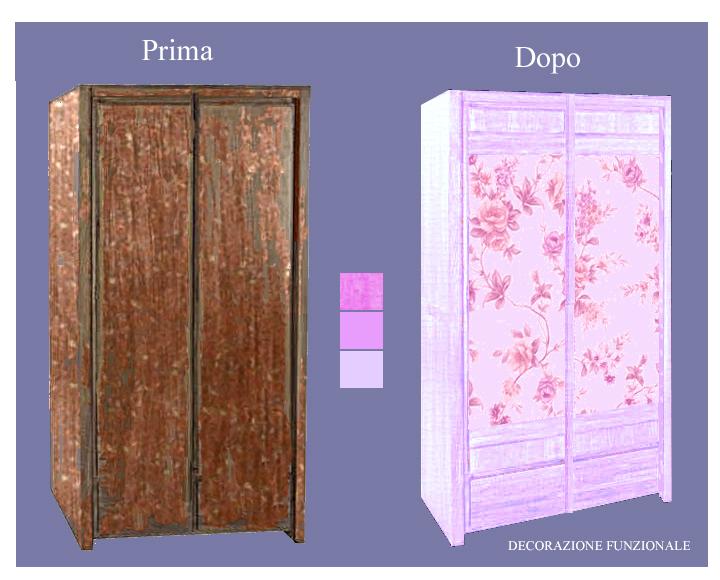 Rivestire un armadio con carta adesiva - Carta adesiva rivestimento mobili ...