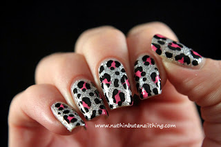 leopard print nail art