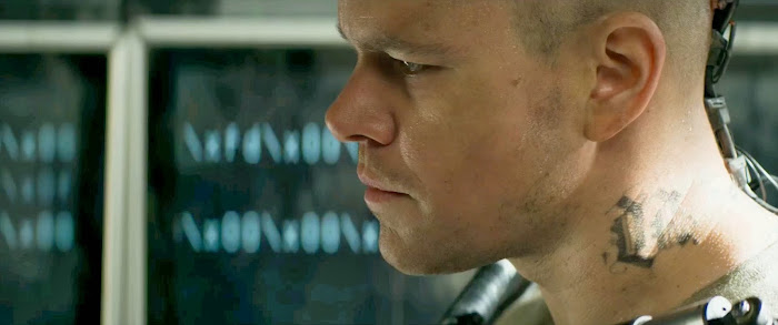 Screen Shot Of Hollywood Movie Elysium (2013) In Hindi English Full Movie Free Download And Watch Online At Downloadingzoo.com