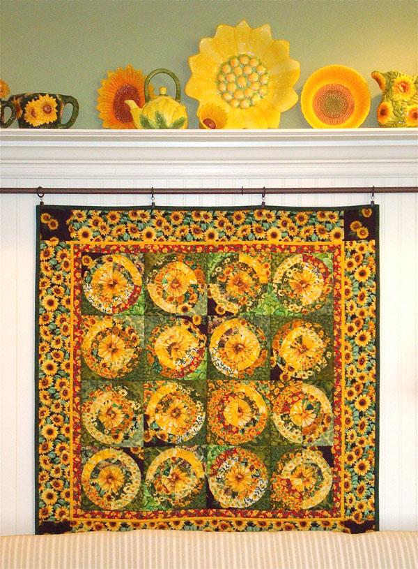 fiori pin quilts crochet pinterest quilt solo sunflower