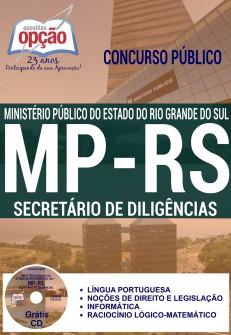 Apostila Secretário de Diligências MP/RS 2016 (GRÁTIS CD)