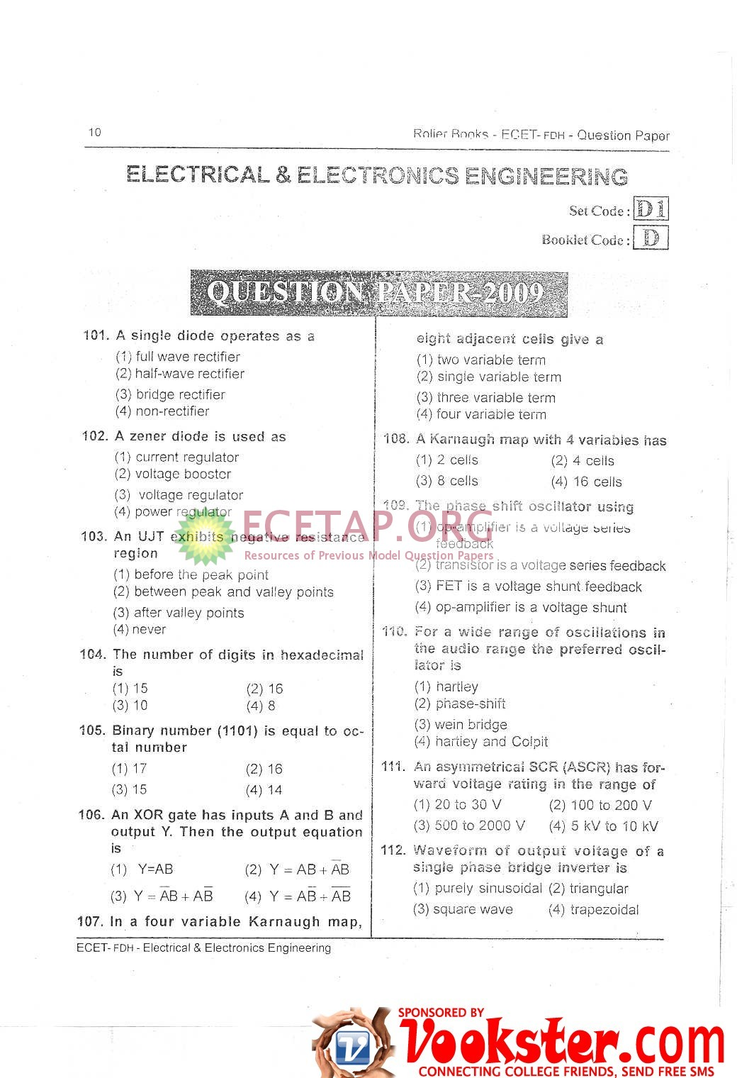 Last 7 years AP ECET previous papers pdf | ECET study ...