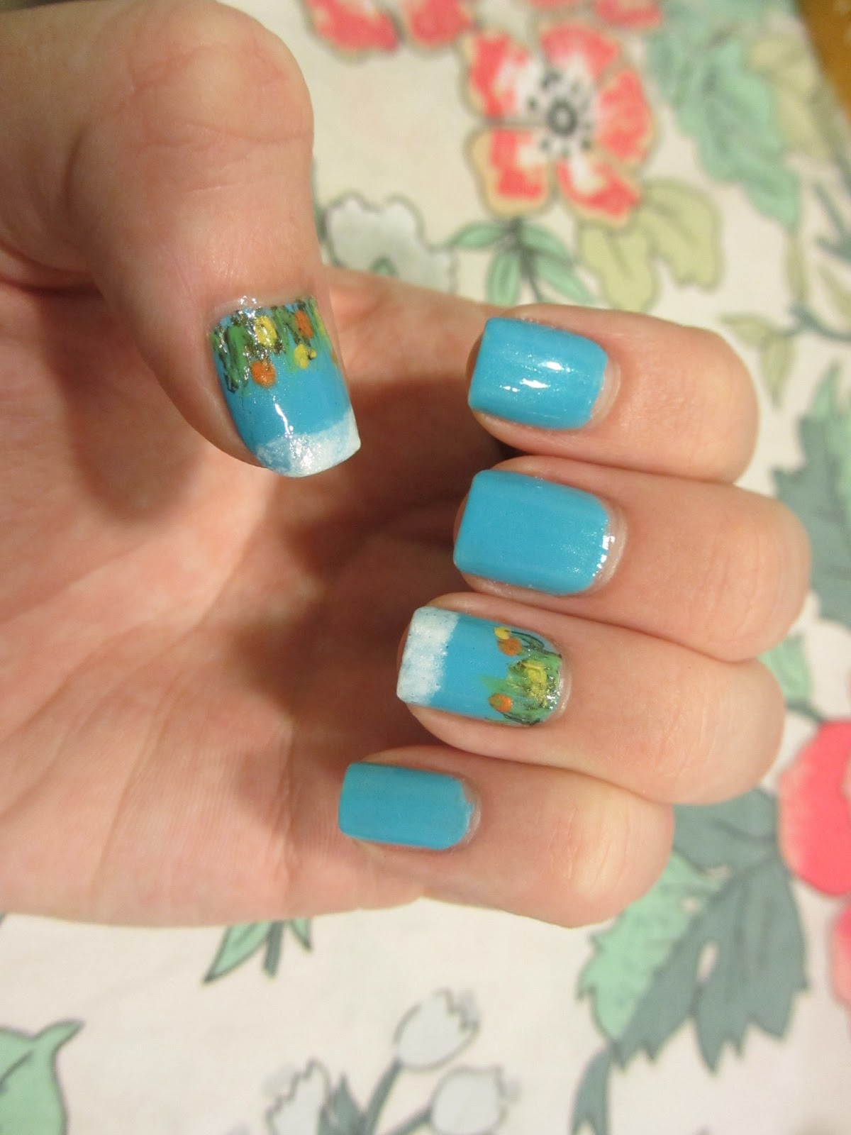 nail art flower face it wide nails bl601