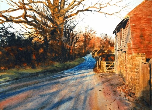 04-Fittleworth-Joe-Francis-Dowden-Photo-Realistic-Watercolour-Paintings-www-designstack-co