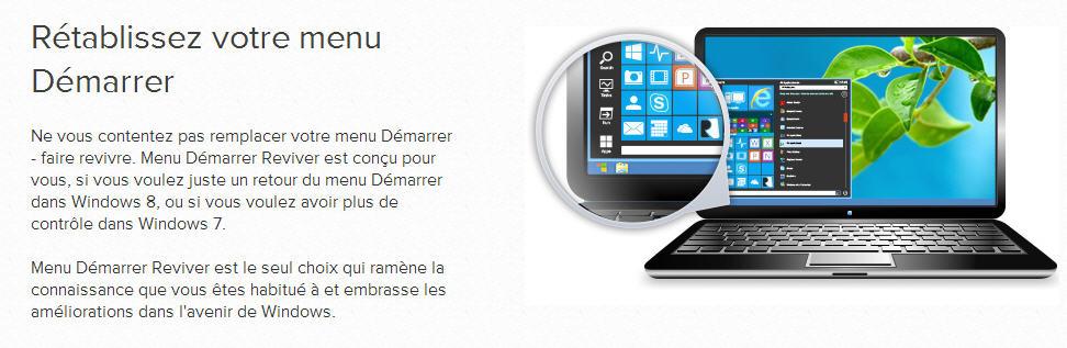 Nouveau menu d marrage pour windows 7 8 le blog de for Bureau virtuel windows 7