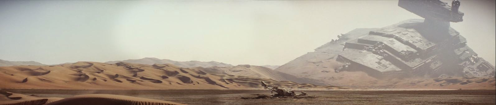 Planet Jakku from The Force Awakens