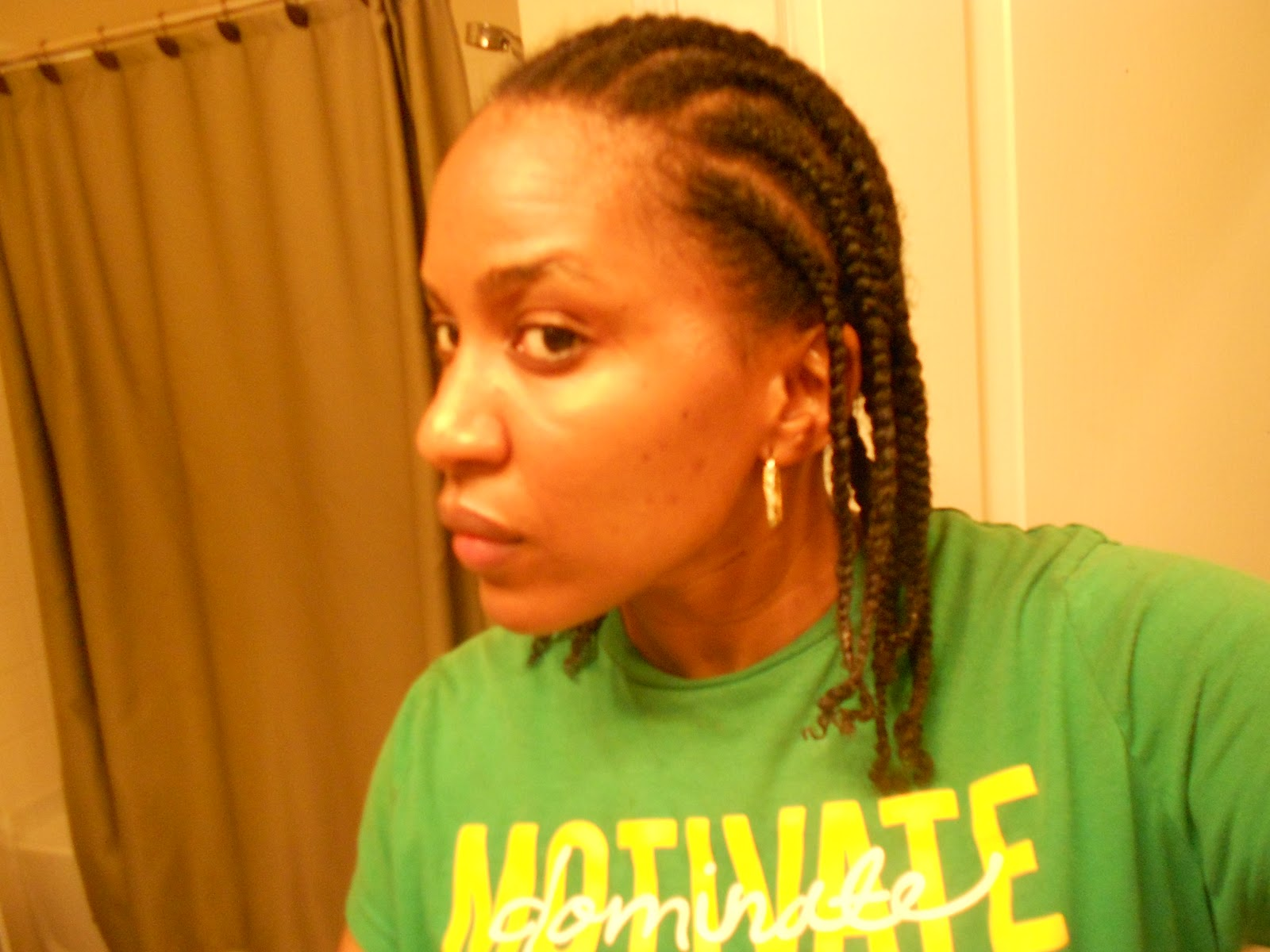 Quickest Crochet Braids : ... braids upward and crocheted my curly synthetic braiding hair i then