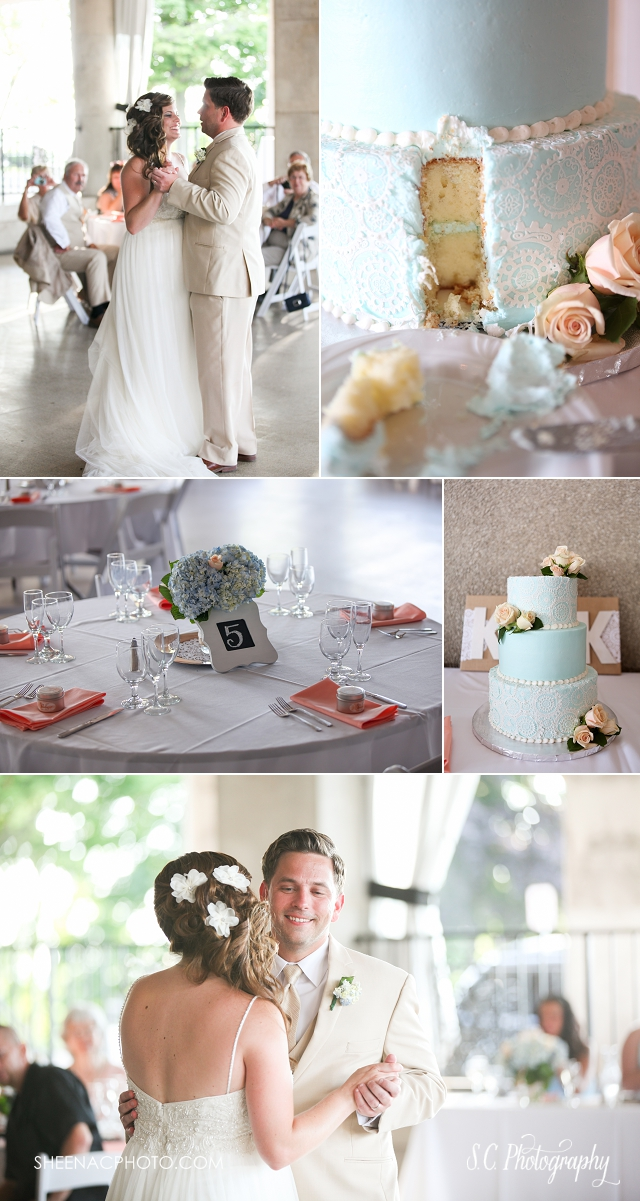veranda whitcomb wedding SC Photography wedding photographer blue wedding cake