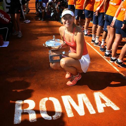 Maria Sharapova é tricampeã do Torneio de Roma!