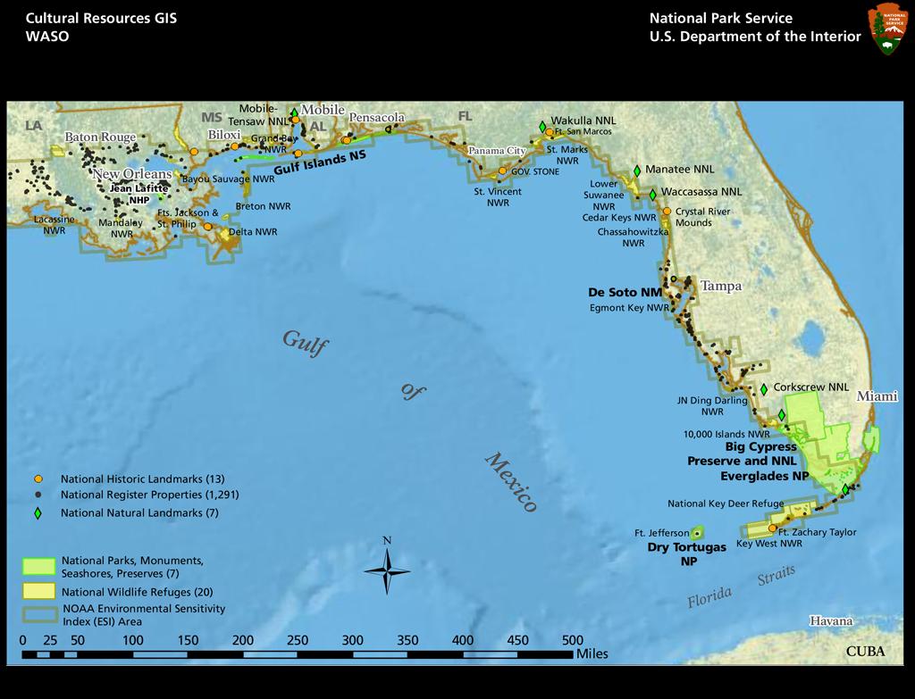 environmental sensitivity index map of florida