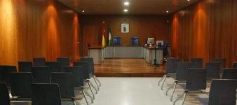 Una sala de la Ciudad de la Justicia de Málaga
