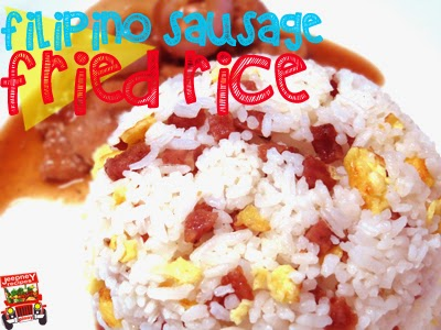 An image of Filipino Sausage Fried Rice on a plate