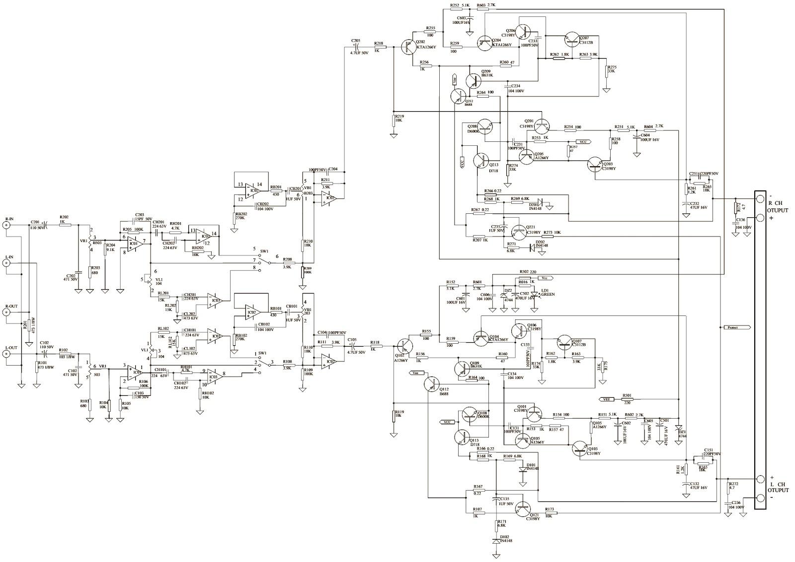 prology control1502 car audio schematic