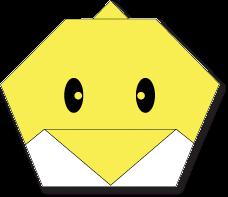 Cara Membuat Origami Wajah Anak Ayam