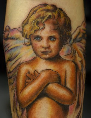 cherub angel tattoo design