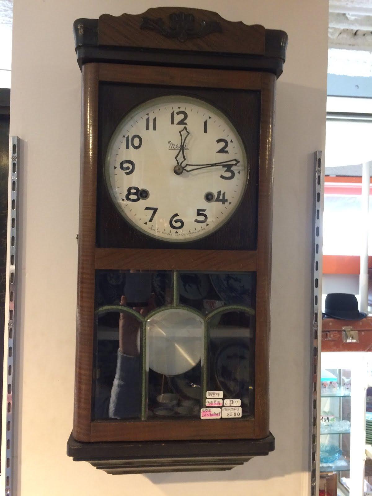 meiji製掛け時計※昭和20~30年代