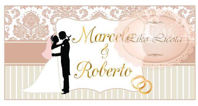 rotulo para casamento provençal