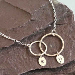 Ma Bicyclette - Buy Handmade - Valentines Gifts For Her - Ellis & Pip - Initials Necklace