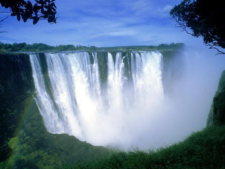 Zimbabwe natural شلالات فكتوريا الضباب الصاعق