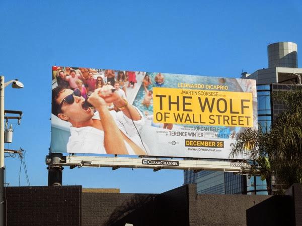 Wolf of Wall Street movie billboard