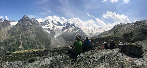 Picnic in the Val Roseg, Switzerland