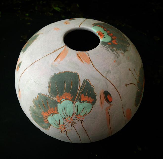 Petit vase rond à Oiseau