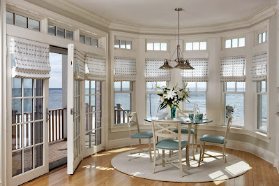 stunning dining room located facing the ocean in circular design