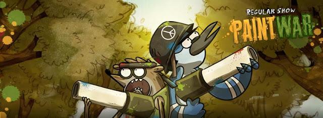 Jogo de Apenas um Show 'Paint War' no Cartoon Network