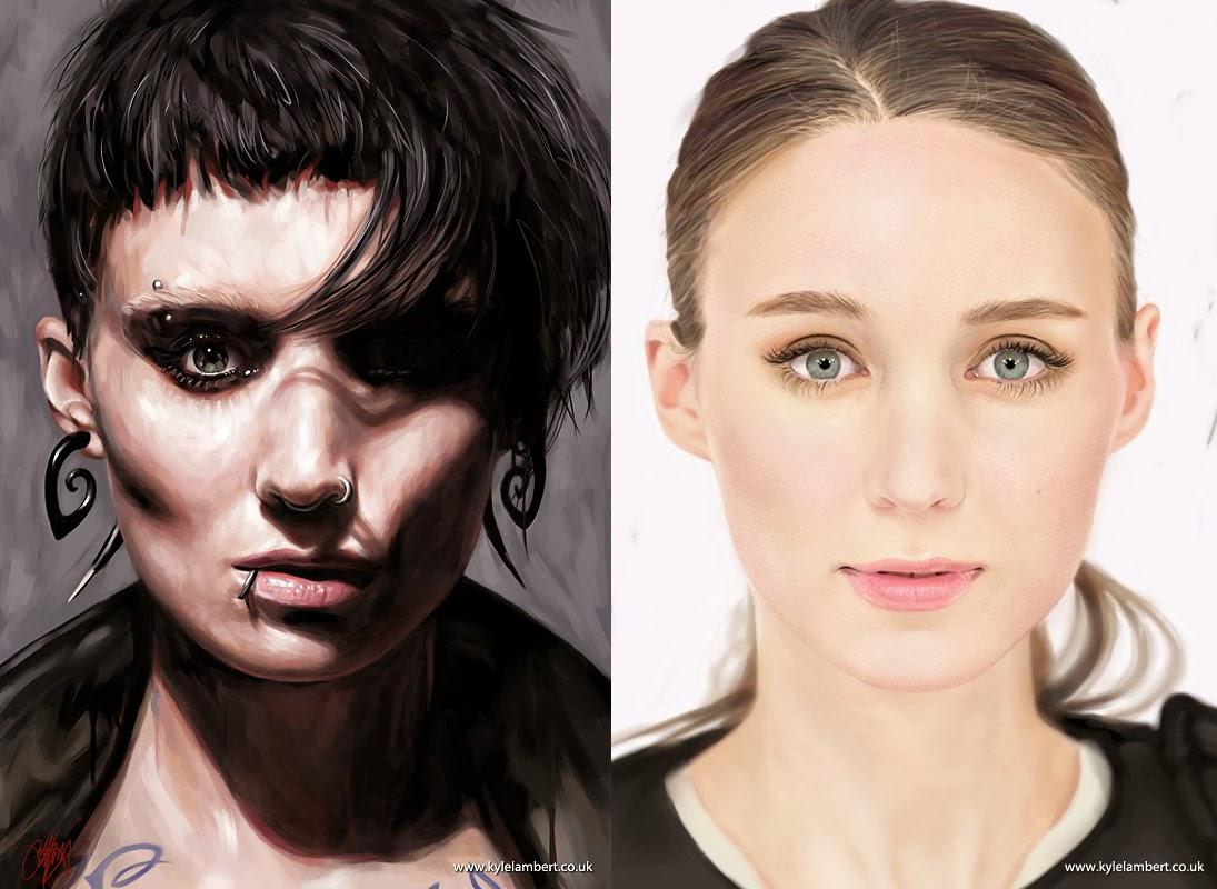 09-Lisbeth-Salander-Rooney Mara-The-Girl-with-the-Dragon-Tattoo-Visual-Artist-Kyle-Lambert-iPad-Hyper-realistic-Portraits-www-designstack-co