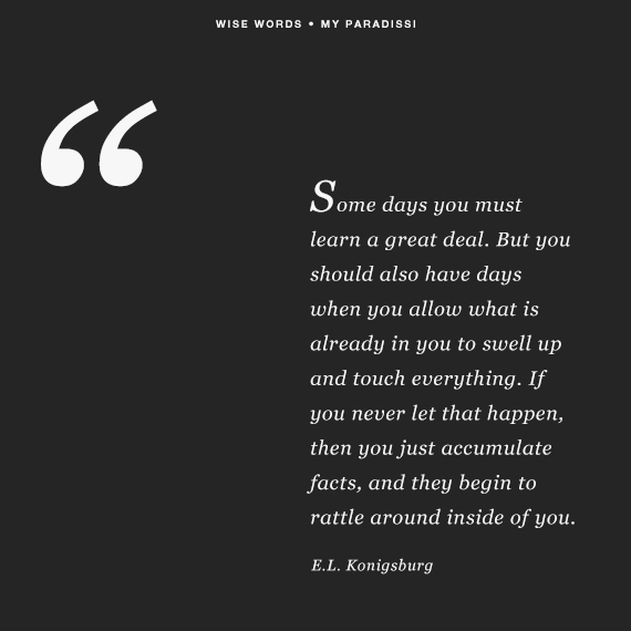 Quote by E.L. Konigsburg | My Paradissi