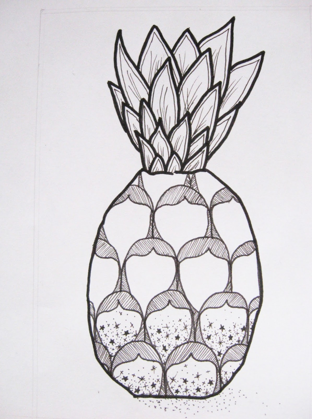 ananas pineapple doodle zentangle