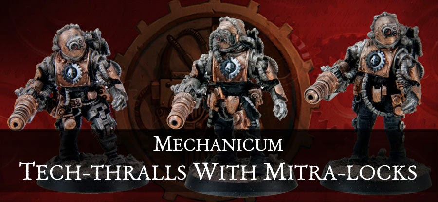 Tech-Thralls armados con Mitra-Locks