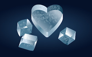 Ice Hearts wallpaper