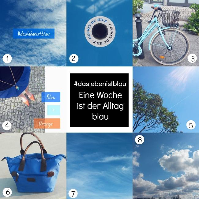 Alles im Alltag fotografieren das blau ist - Instagram Challenge