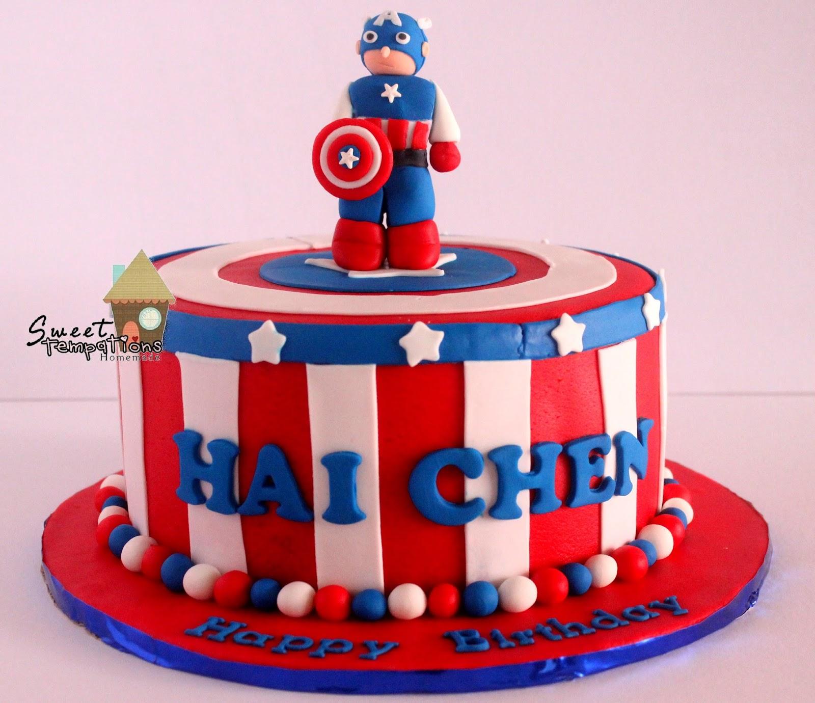 Sweet Temptations Homemade Cakes Pastry Avengers Captain America Cake