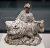 Terracota ateniense realizada entre el 480 y el 460 a. C. .