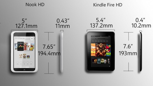 Kindle Fire HD vs Nook HD Review