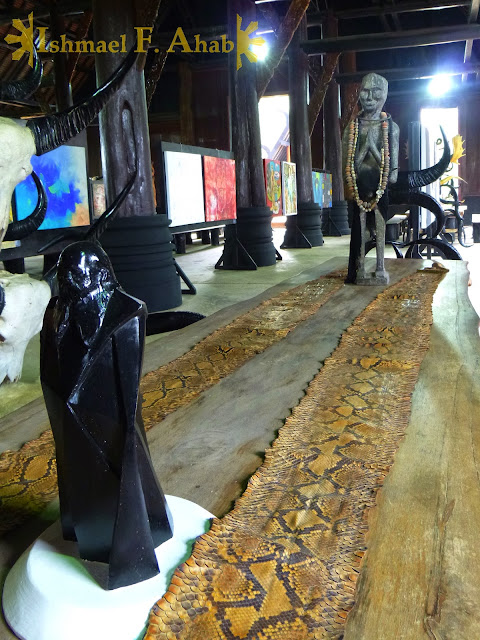 Creepy table in Black House, Chiang Rai, Thailand