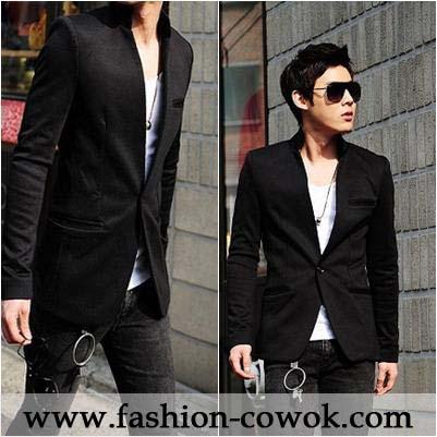 Blazer Korea Black Style