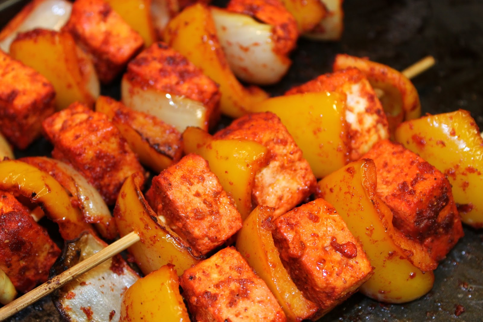 These simple paneer tikka kebabs taste delicious cooked on the ...
