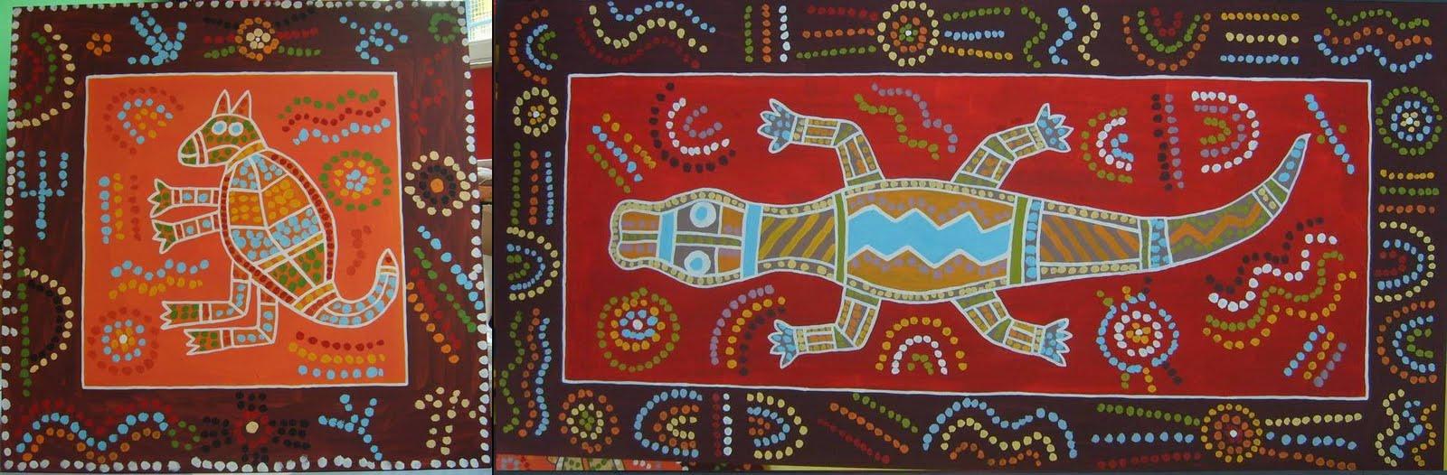 Jean yves andr kangourou crocodile maternelles for Peinture crocodile