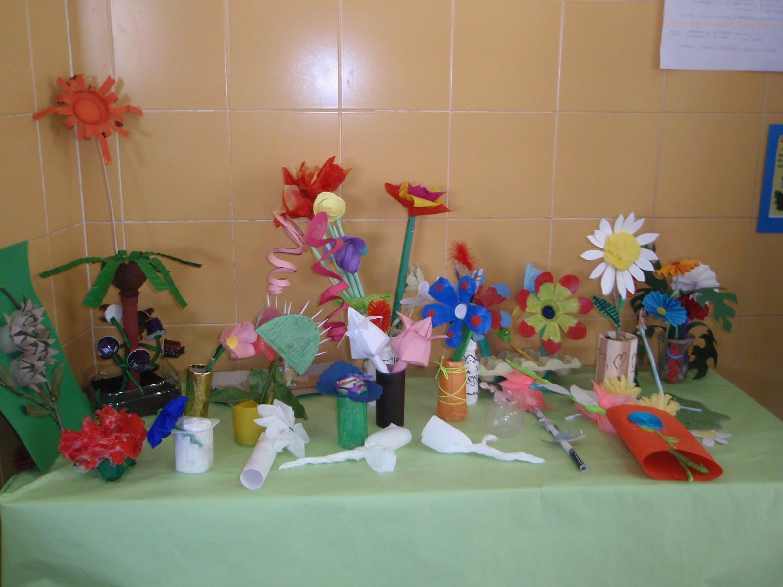 Flores Con Material Reciclable